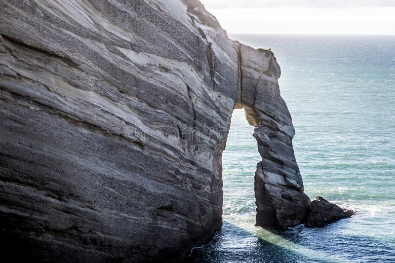 Spektakulär ojämn kustlinje på uddeavskedet i Nya Zeeland fotografering för bildbyråer