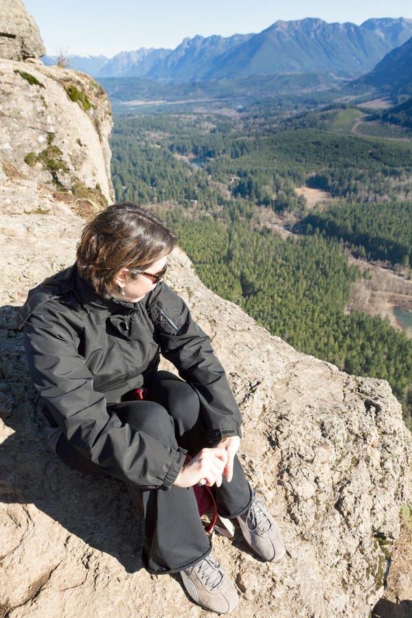 Spektakulär sikt från skallerormen Ledge Trail royaltyfri fotografi
