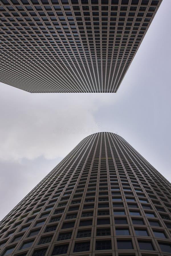 spektakulära skyskrapor arkivfoton