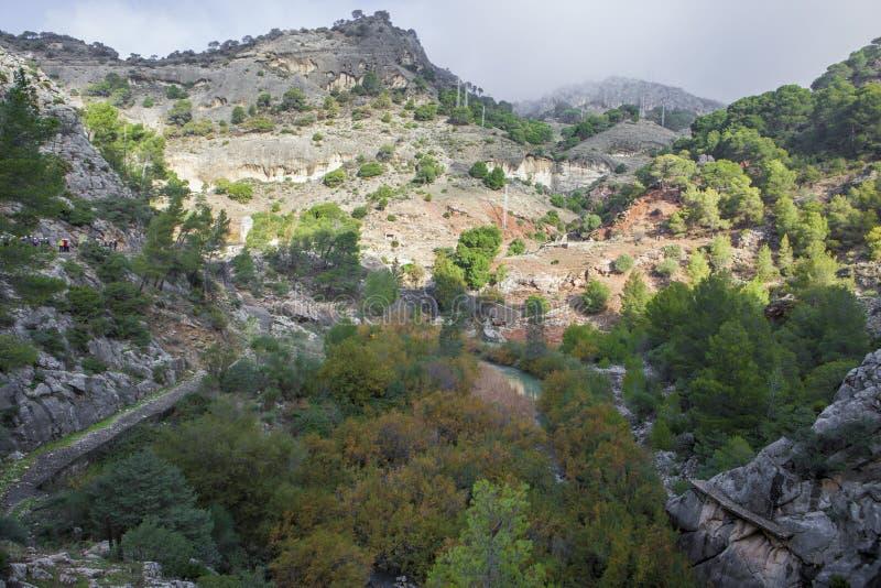 Spektakulärt landskap av breda områden, Gaitanes klyfta royaltyfria foton