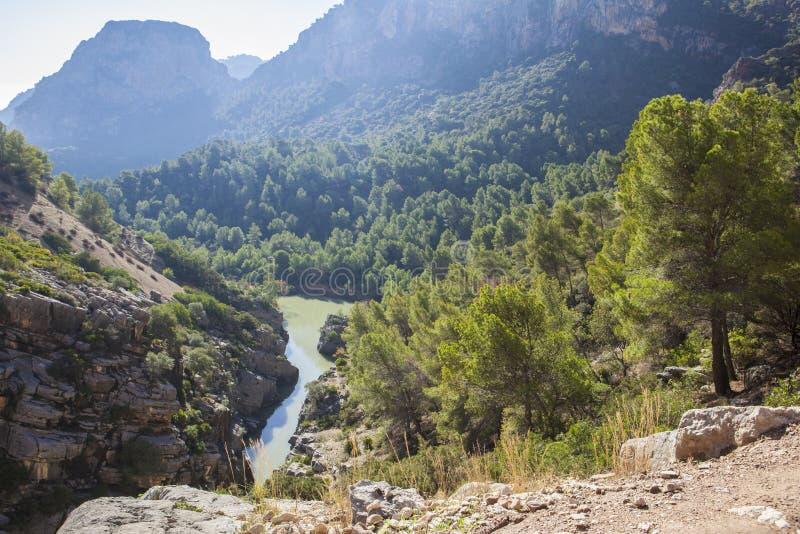 Spektakulärt landskap av breda områden, Gaitanes klyfta arkivfoto