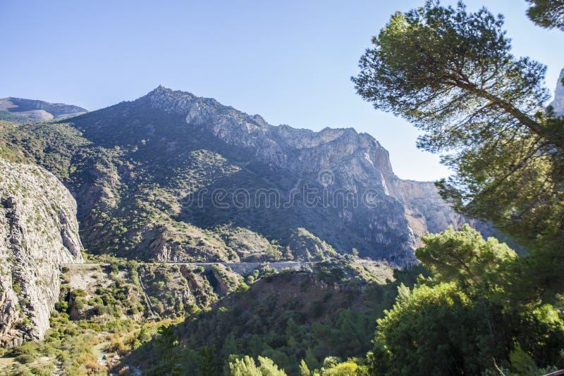Spektakulärt landskap av breda områden, Gaitanes klyfta royaltyfri bild