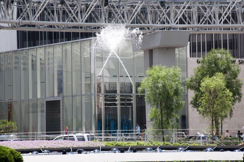 Spektakularne fontanny w Las Vegas w Nevada usa fotografia royalty free