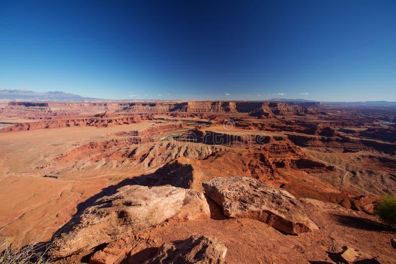 Spektakularni krajobrazy Canyonlands park narodowy w Utah, usa obrazy stock