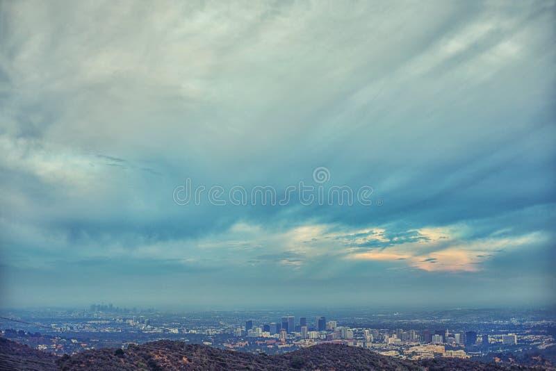 Spektakularny panoramiczny widok uwypukla Los Angeles zachodnia strona My obraz royalty free