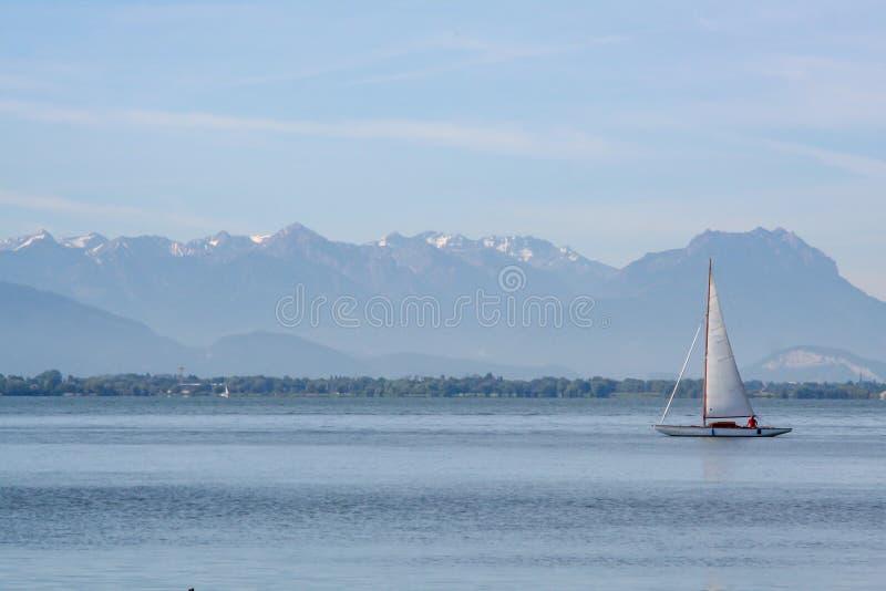 Spektakularny widok nad jeziornym constance zarazkiem obrazy stock