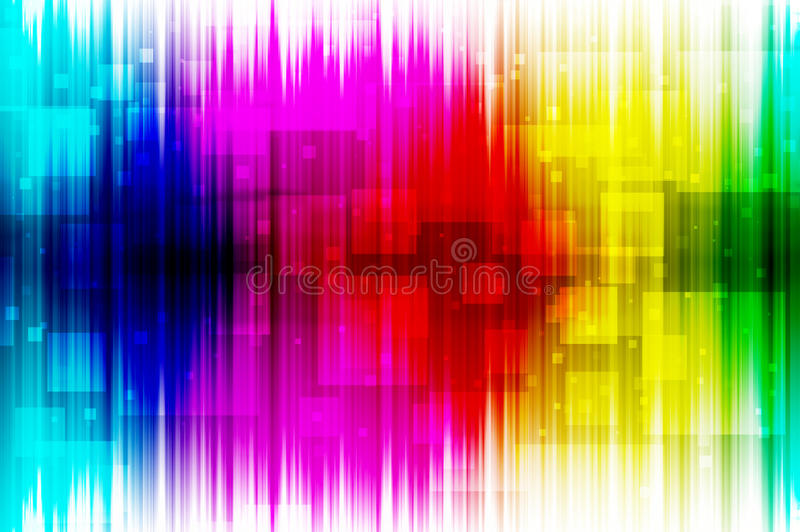 Spektra gör sammandrag bakgrund stock illustrationer