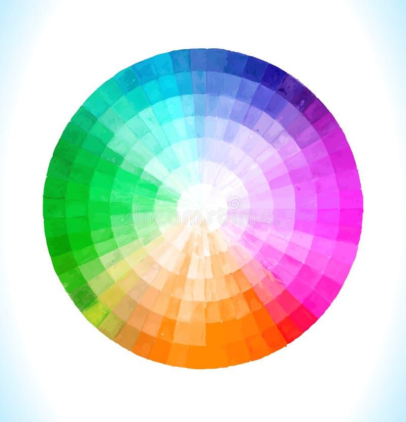 Spektral- cirkel för flerfärgad vektor royaltyfri illustrationer