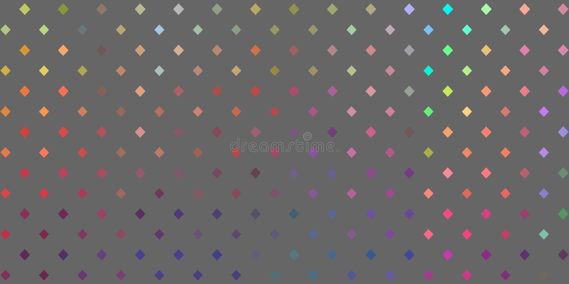 Spektral- flerfärgad prickrastermodell Gr? f?rgbakgrund Abstrakt regnbågsskimrande baner royaltyfri illustrationer