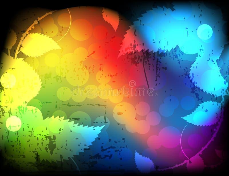 spektralny elementu ulistnienie ilustracja wektor