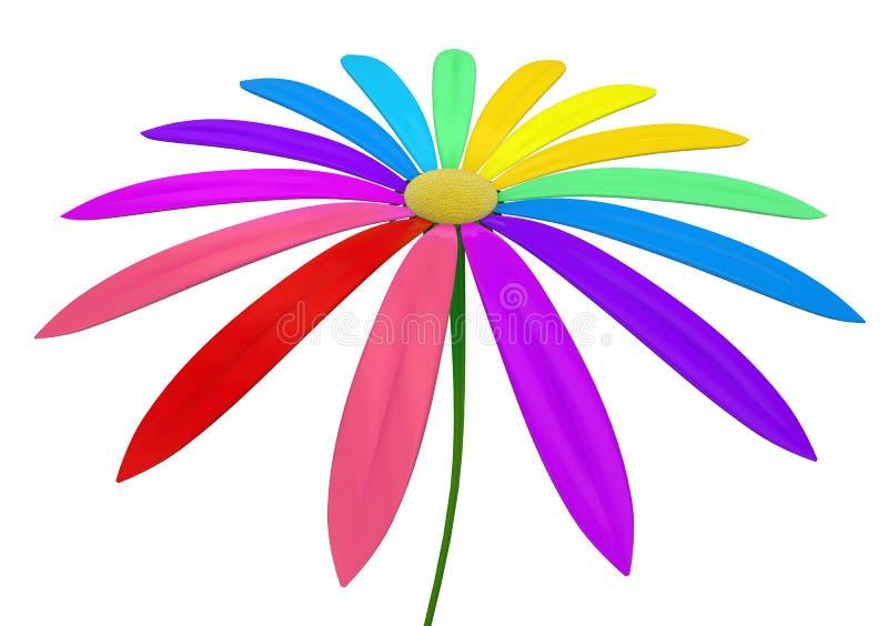 Spektralny kwiat royalty ilustracja