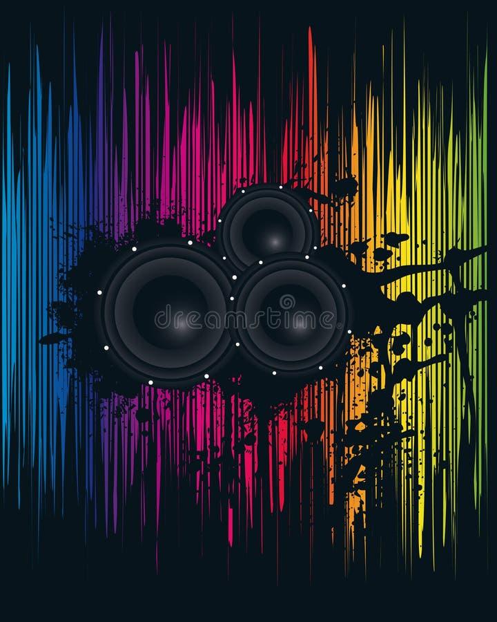 Spektralparty-Plakat lizenzfreie abbildung