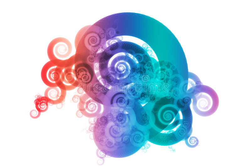 Spektrum-Farben-Mischungs-Auszugs-Auslegung-Hintergrund lizenzfreie abbildung