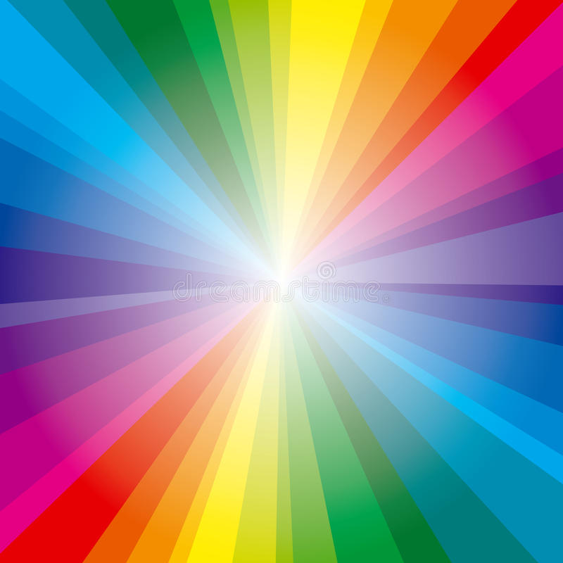 Spektrum rays Hintergrund lizenzfreie abbildung