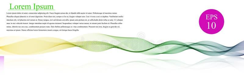 Spektrumwellenfarbe Abstrakter gewellter Vektorhintergrund, farbige wellenartig bewegte Linien für Broschüre, Website, Fliegerdes vektor abbildung