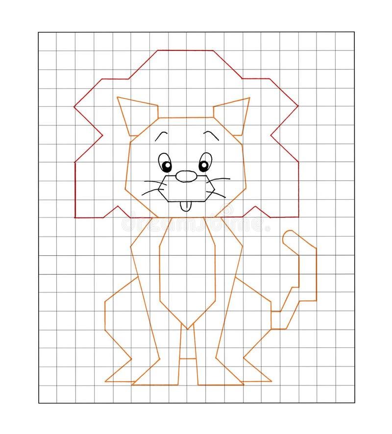 Spel 15 - kleur de leeuw stock illustratie