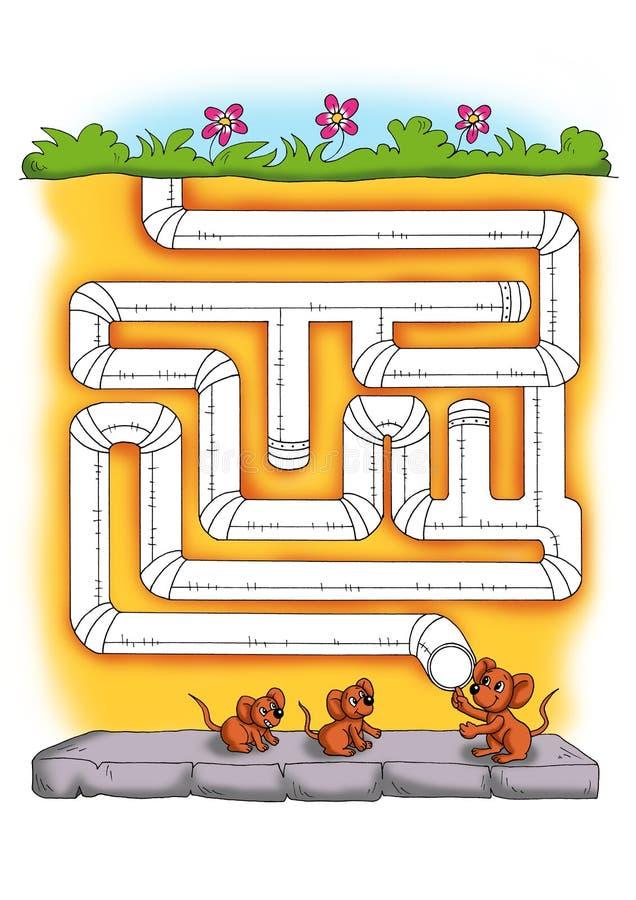 Spel 6 - het labyrint royalty-vrije illustratie