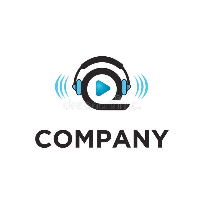 Spel audiovisueel klaar gemaakt embleem royalty-vrije illustratie