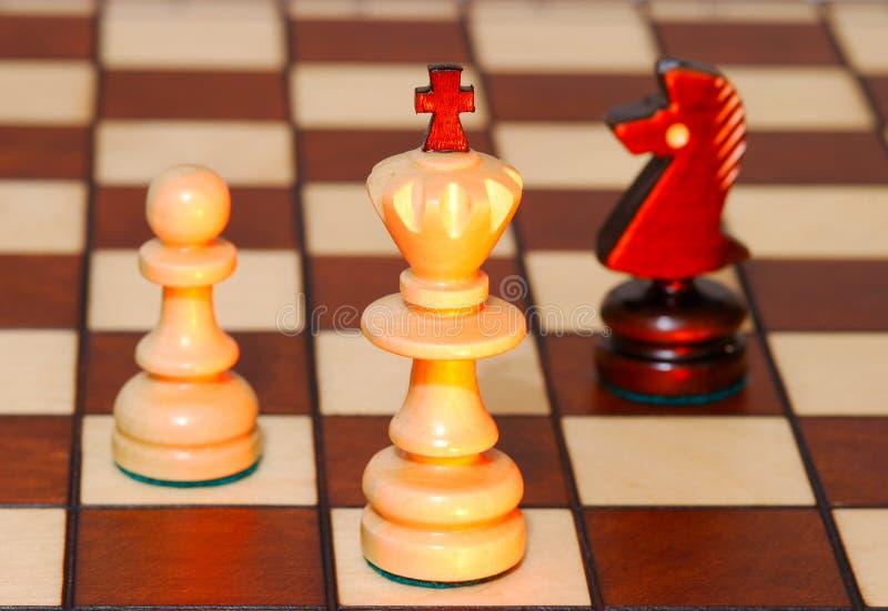 Spel in een schaak royalty-vrije stock foto