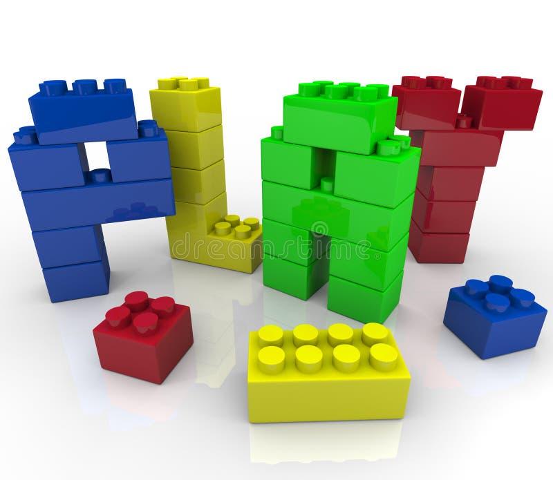 Spel - het Creatieve en Fantasierijke Leren vector illustratie