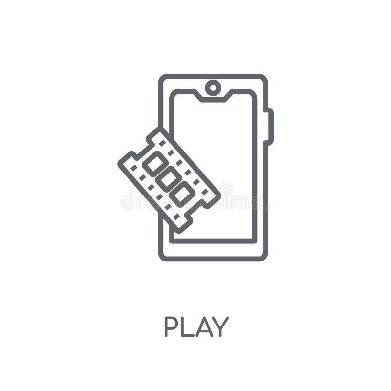 spel lineair pictogram Modern het embleemconcept van het overzichtsspel op witte rug stock illustratie