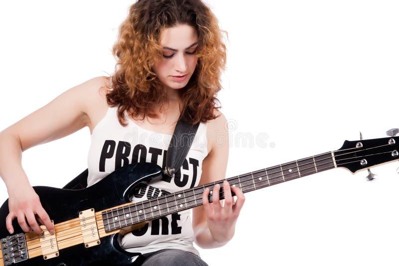 Spel op mijn gitaar stock afbeeldingen