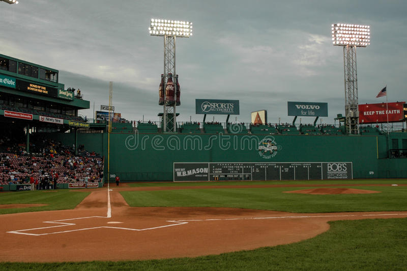 Spel-tijd, Fenway-Park, Boston, doctorandus in de letteren royalty-vrije stock fotografie