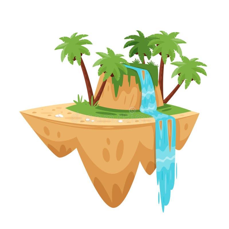 Spel tropisch eiland vector illustratie