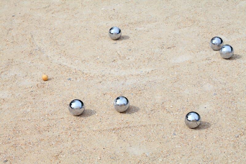 Spel Van Jeu DE Boule, Het Franse Balspel Van A Stock Afbeeldingen
