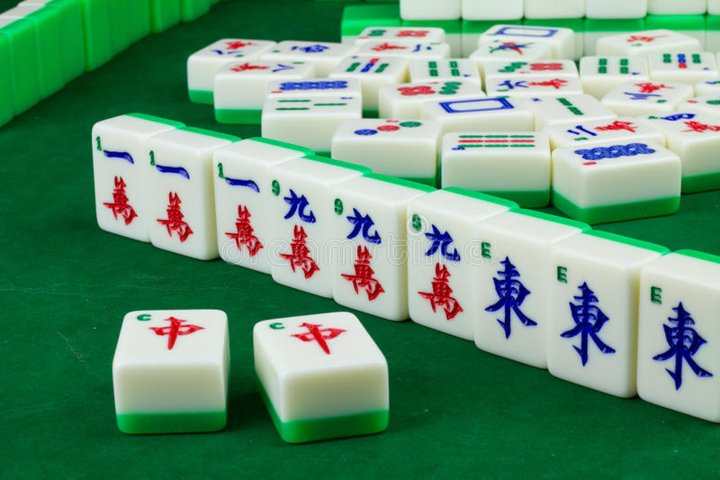 Spel van Mahjong stock foto