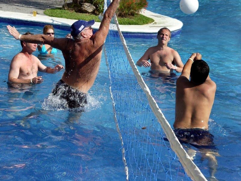 Spel van waterpolo stock foto
