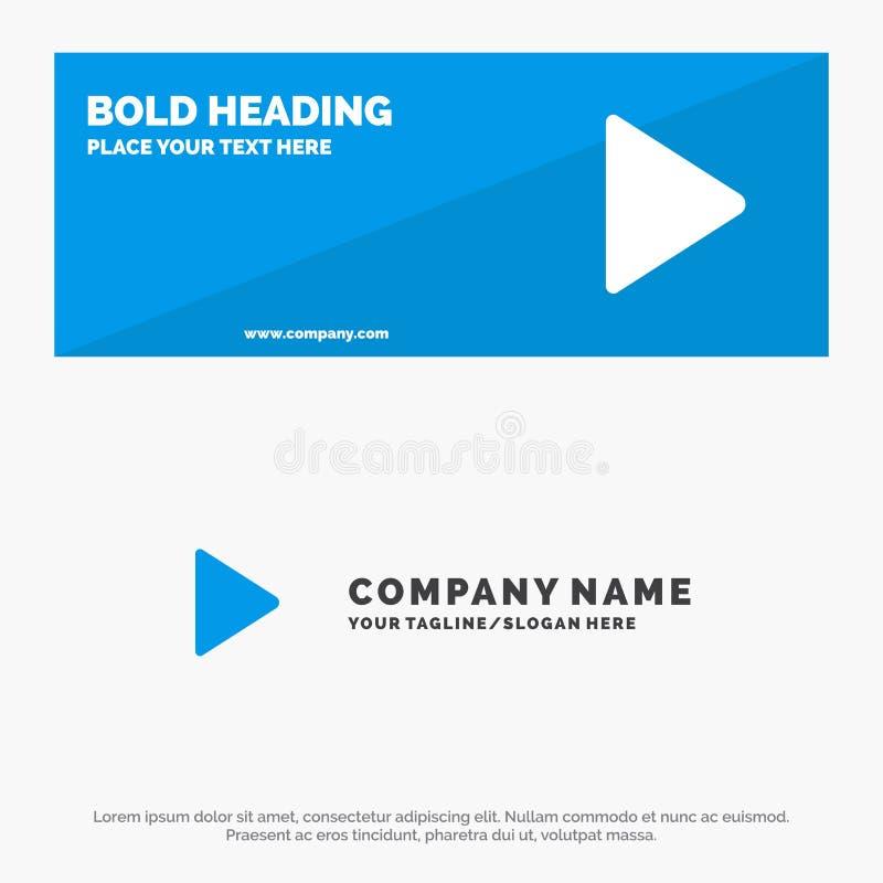 Spel, Video, van de het Pictogramwebsite van Twitter de Stevige Banner en Zaken Logo Template vector illustratie
