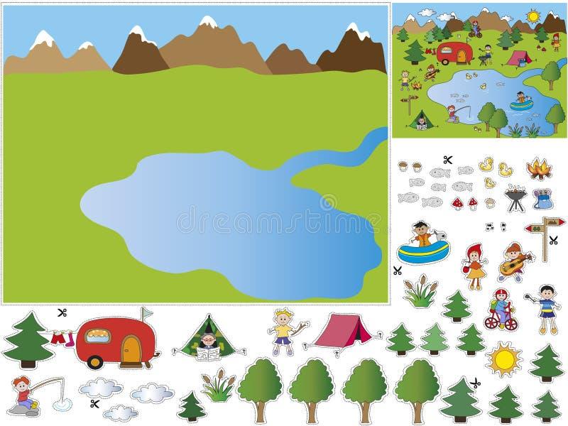 Spel voor kinderen royalty-vrije illustratie