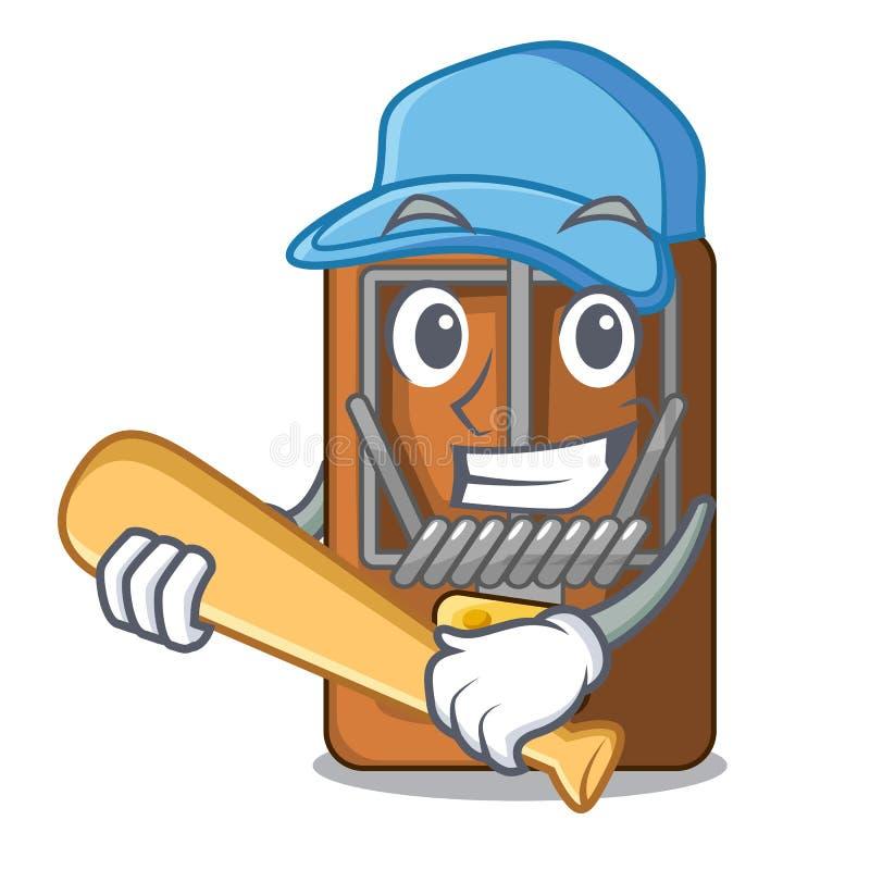 Spela baseballråttfällan i a-teckenformen vektor illustrationer