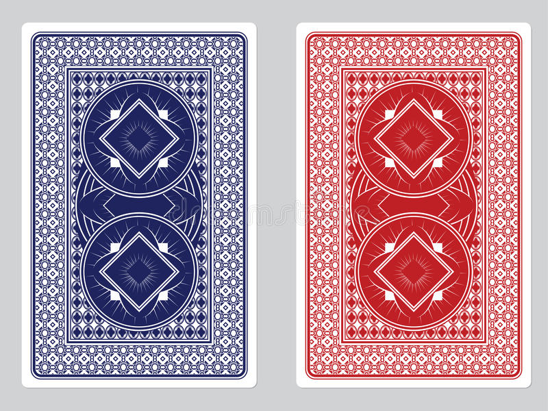 Spela designer för kortbaksida stock illustrationer