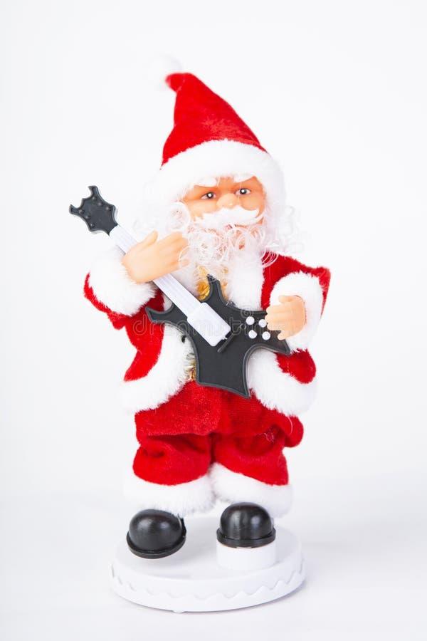 Spela en gitarr Santa Claus royaltyfri fotografi