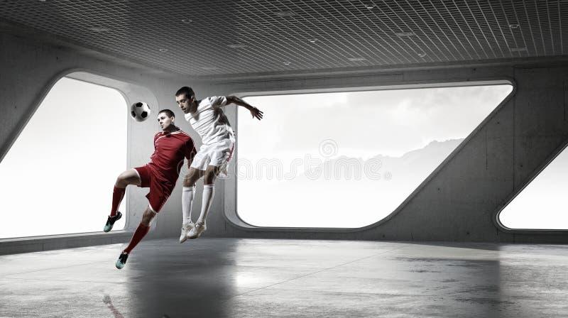 Spela fotboll i regeringsställning Blandat massmedia arkivbilder