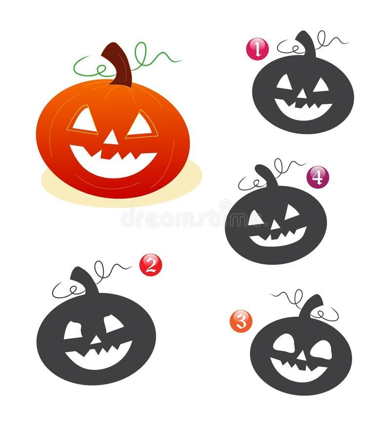 spela halloween pumpaform royaltyfri illustrationer