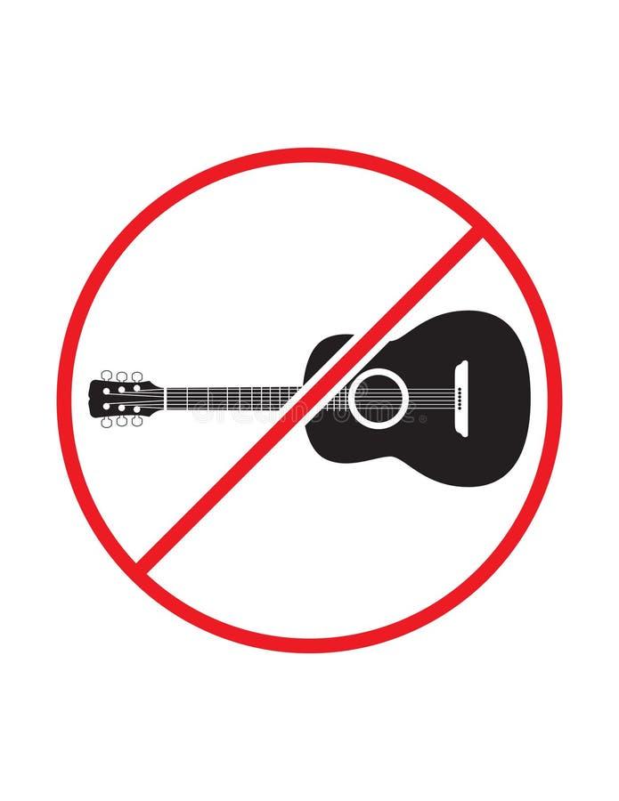 Spela inte gitarrvarningstecknet arkivbilder