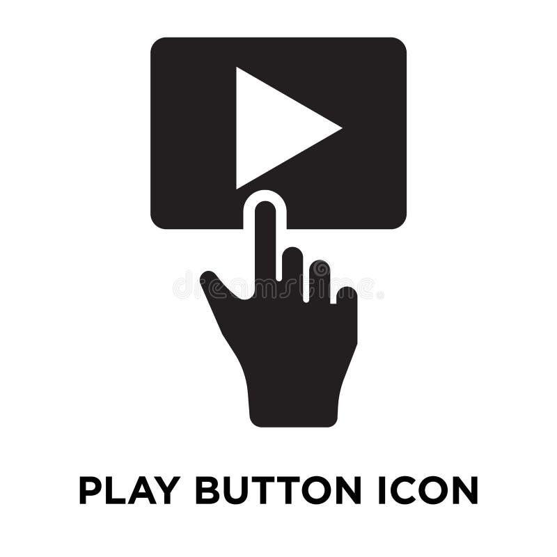 Spela knappsymbolsvektorn som isoleras på vit bakgrund, logoconce royaltyfri illustrationer