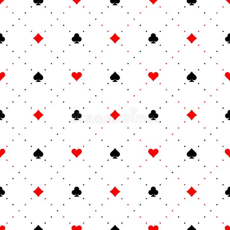 Spela kortet passar sömlös modellbakgrund för tecken royaltyfri illustrationer