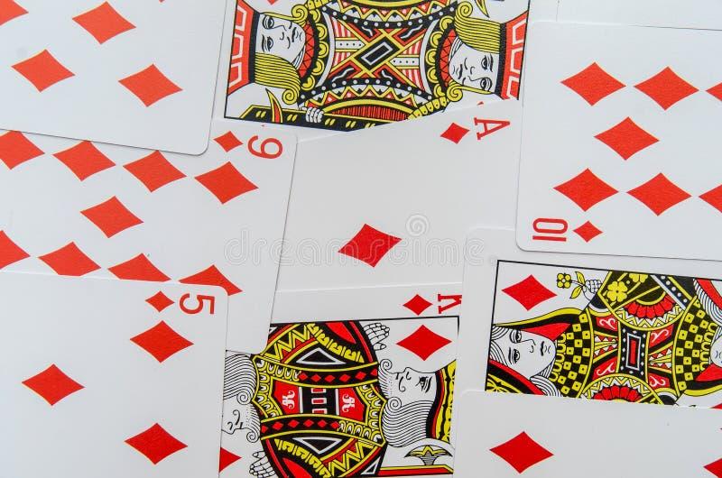 Spela kortsamlingen royaltyfria foton