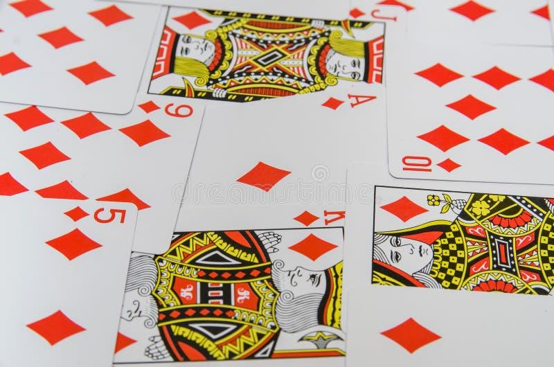 Spela kortsamlingen royaltyfri foto