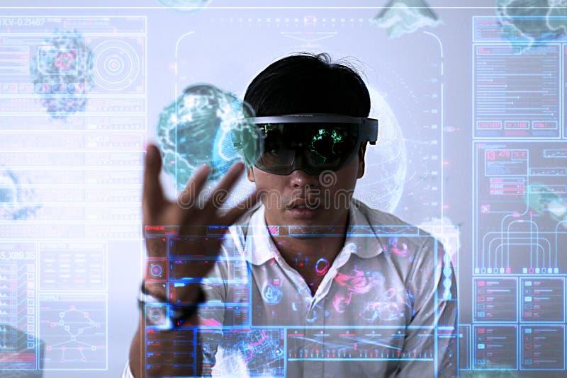 Spela magi | Virtuell verklighet med hololens arkivbilder