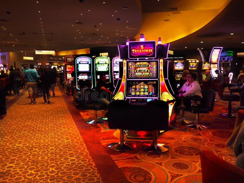 Spela maskiner Las Vegas royaltyfria foton