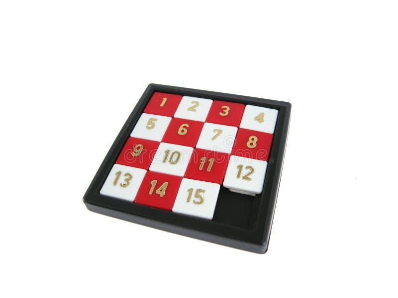 spela nummerglidbanan arkivbilder