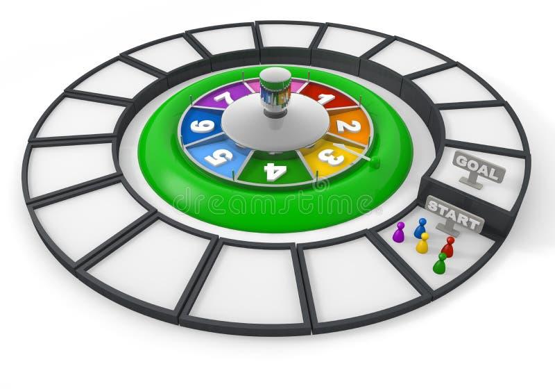 spela rouletten stock illustrationer