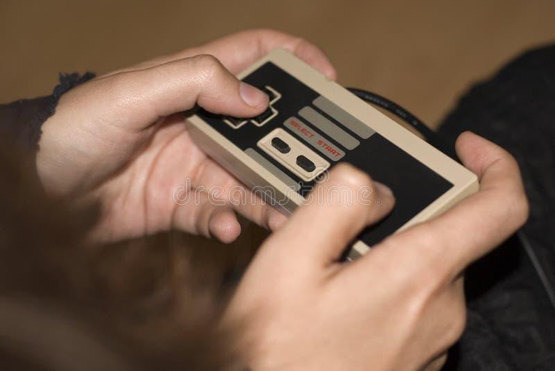 spela som är retro arkivfoto