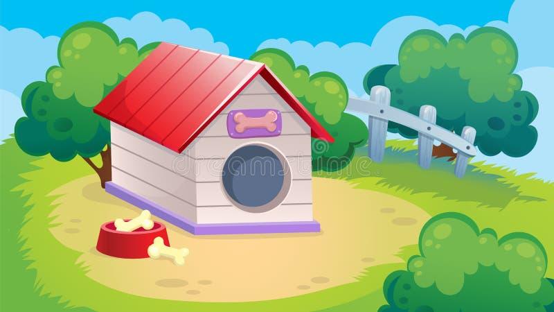 Spelachtergrond van Hond stock illustratie