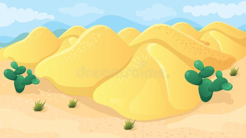 Spelachtergrond van Woestijn royalty-vrije illustratie